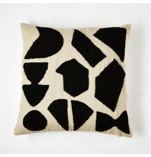 Housse de coussin noir Shapes – 45 x 45 cm