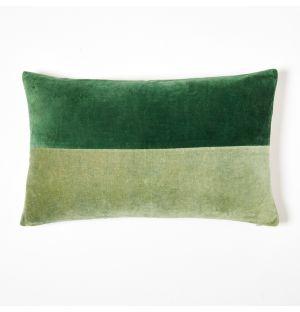 Housse de coussin en velours vert