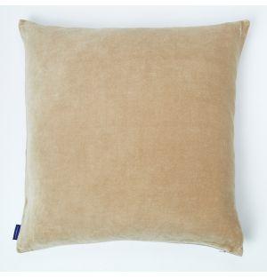 Housse de coussin en velours côtelé beige – 50 x 50 cm