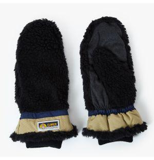 Moufles en peau lainée noire