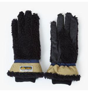 Gants en peau lainée noire