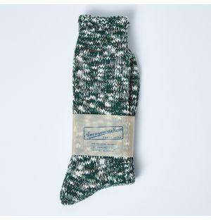 Chaussettes en coton flammé vertes