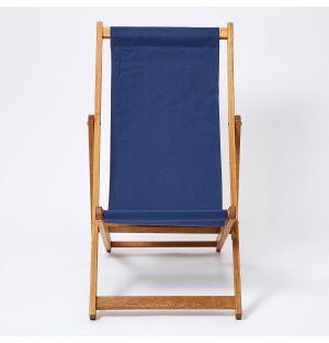 Chaise chilienne d'extérieur bleu marine