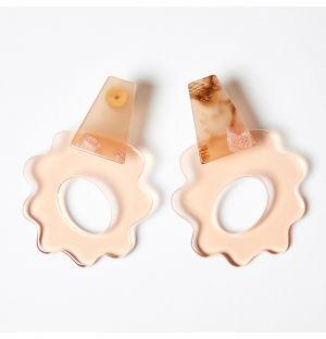 Boucles d'oreilles Violeta rosé