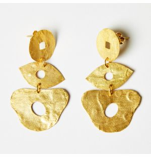 Boucle d'oreilles dorées Sanat