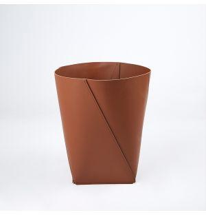 Corbeille à papier marron