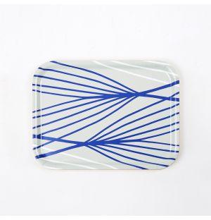 Petit plateau bleu Abstract Lines