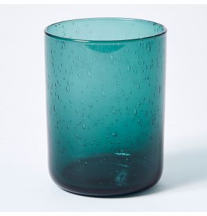 Verre bleu pétrole Bubble