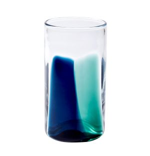 Verre High Ball - bleu et turquoise