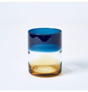 Verre bleu et ambre Ombre