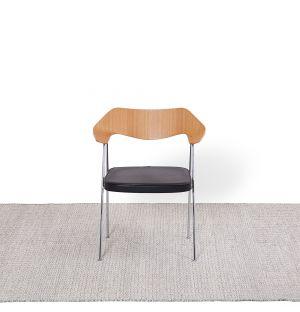 Kilim à mini losanges gris & vermillon - 170 x 240cm