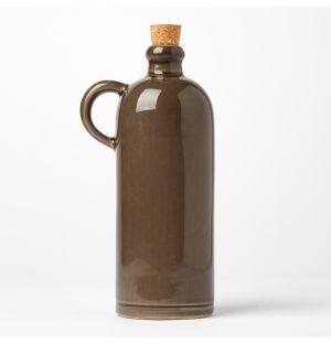 Petite bouteille d'huile grise