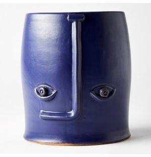 Vase bleu Face – 18 cm