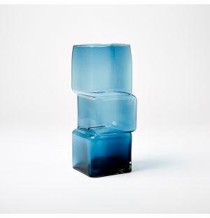 Vase bleu Cube
