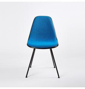 Chaise DSX Plastic Side tissu Hopsak - piètement époxy noir