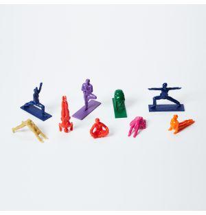 Ensemble de 9 figurines Rainbow Yoga Joes
