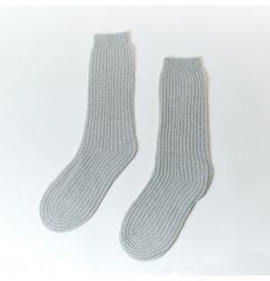 Chaussettes en cachemire gris – Taille unique