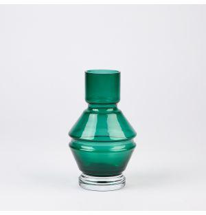 Vase en verre émeraude Relae – 18 cm