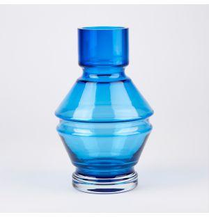 Vase en verre bleu Relae – 26 cm