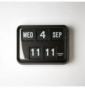 Horloge noire murale Flip Series 17