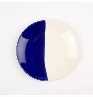 Petite assiette bleu cobalt et crème Dip – 16 cm