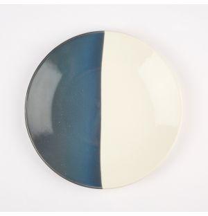 Petite assiette bleu gris et crème Dip – 16 cm