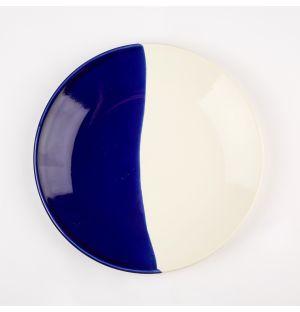 Petite assiette bleu cobalt et crème Dip – 22 cm