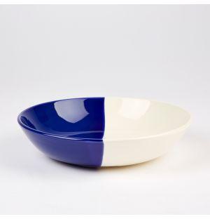 Bol bleu cobalt et crème Dip – 22,5 cm