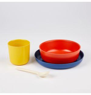 Ensemble de vaisselle en fibre de bambou