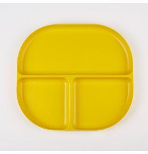 Plateau en bambou jaune citron