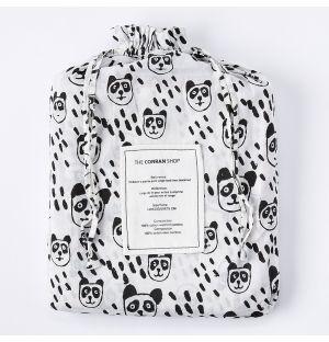 Housse de couette à imprimé panda - 1 place