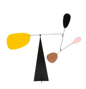 Mobile Paris marron, rose et jaune