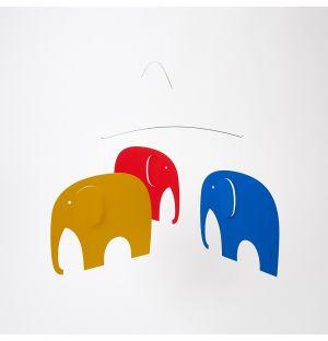 Mobile en carton Elephant Party