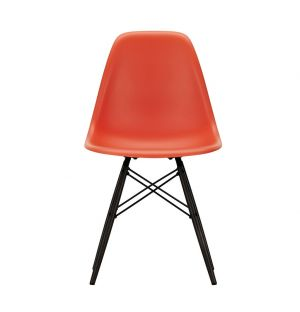 Chaise DSW Plastic - piètement érable noir