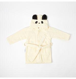 Peignoir crème Panda 1-2 ans