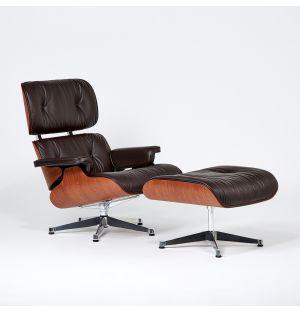 Lounge Chair & Ottoman - cuir végétal – édition limitée