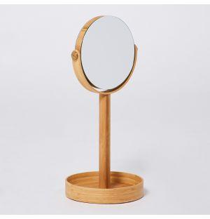 Miroir grossissant en bambou