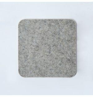 Dessous de verre carré en feutre gris clair
