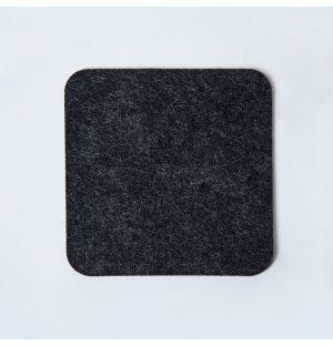 Dessous de verre carré en feutre gris foncé