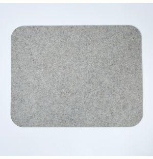 Set de table rectangulaire en feutre gris clair