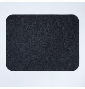 Set de table rectangulaire en feutre gris foncé