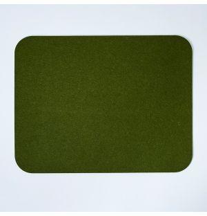 Set de table rectangulaire en feutre vert olive