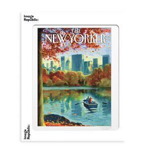 Affiche « Row Boat In Central Park » par Harry Bliss - 40 x 50 cm