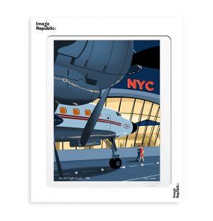 Affiche « JFK » par Paulo Mariotti - 40 x 50 cm