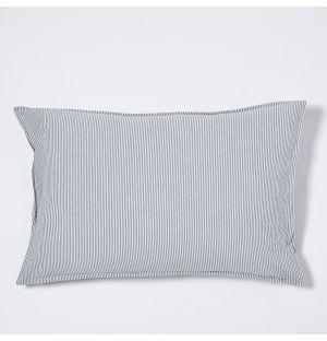 Taie d'oreiller rectangulaire en coton premium à rayures