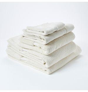 Ensemble de serviettes de bain en coton - ivoire