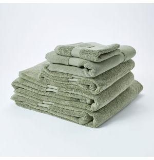 Serviette visage en molleton de coton Premium - sauge
