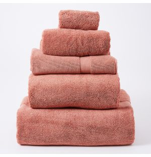 Ensemble de serviettes de bain en coton - brique