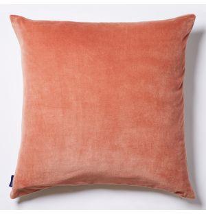 Housse de coussin en coton flammé rose - 50 x 50 cm