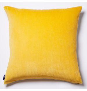 Housse de coussin en coton flammé jaune - 50 x 50 cm